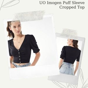UO Imogen Puff Sleeve Cropped Top